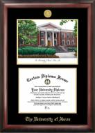 Akron Zips Gold Embossed Diploma Frame with Campus Images Lithograph