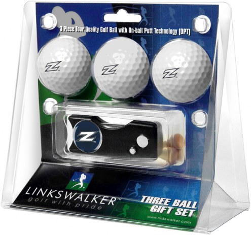 Akron Zips Golf Ball Gift Pack with Spring Action Divot Tool