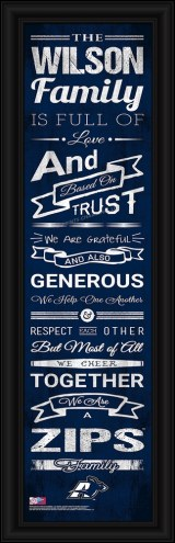 Akron Zips Personalized Family Cheer Framed Art
