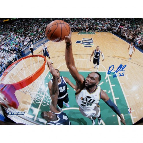 Al Jefferson Utah Jazz Dunk Against Oklahoma City Thunder Signed 8x10 Photo