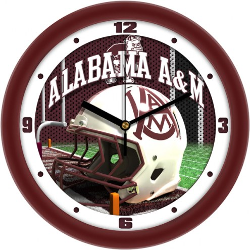 Alabama A&M Bulldogs Football Helmet Wall Clock