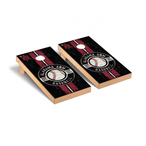 Alabama A&M Bulldogs Baseball Vintage Cornhole Game Set