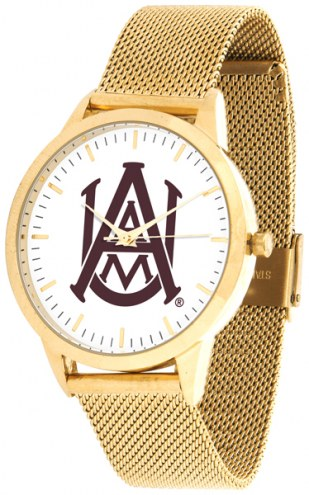 Alabama A&M Bulldogs Gold Mesh Statement Watch