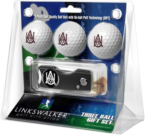 Alabama A&M Bulldogs Golf Ball Gift Pack with Spring Action Divot Tool