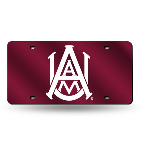 Alabama A&M Bulldogs Laser Cut License Plate