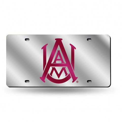 Alabama A&M Bulldogs Silver Laser Cut License Plate