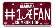 Alabama Crimson Tide #1 Fan License Plate