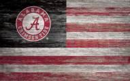 "Alabama Crimson Tide 11"" x 19"" Distressed Flag Sign"