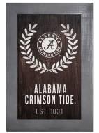 """Alabama Crimson Tide 11"""" x 19"""" Laurel Wreath Framed Sign"""