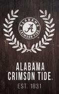 "Alabama Crimson Tide 11"" x 19"" Laurel Wreath Sign"