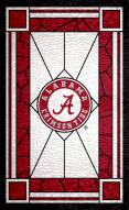 """Alabama Crimson Tide 11"""" x 19"""" Stained Glass Sign"""