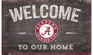 """Alabama Crimson Tide 11"""" x 19"""" Welcome to Our Home Sign"""