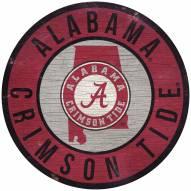 "Alabama Crimson Tide 12"" Circle with State Sign"