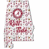 """Alabama Crimson Tide 12"""" Floral State Sign"""