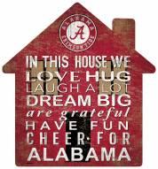"Alabama Crimson Tide 12"" House Sign"