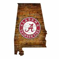 "Alabama Crimson Tide 12"" Roadmap State Sign"