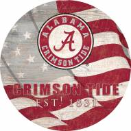 "Alabama Crimson Tide 12"" Team Color Flag Circle Sign"