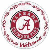 "Alabama Crimson Tide 12"" Welcome Circle Sign"