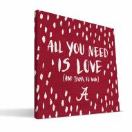 "Alabama Crimson Tide 12"" x 12"" All You Need Canvas Print"
