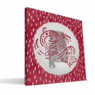"Alabama Crimson Tide 12"" x 12"" Born a Fan Canvas Print"