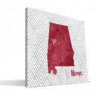 "Alabama Crimson Tide 12"" x 12"" Home Canvas Print"