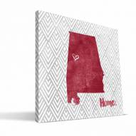 "Alabama Crimson Tide 12"" x 12"" Home Canvas Print"