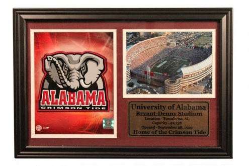 "Alabama Crimson Tide 12"" x 18"" Photo Stat Frame"