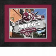 Alabama Crimson Tide 13 x 16 Personalized Framed Sports Pub Print