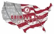 """Alabama Crimson Tide 15"""" USA Flag Cutout Sign"""