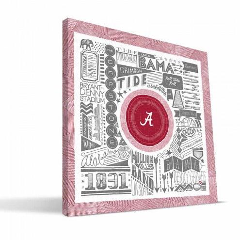 "Alabama Crimson Tide 16"" x 16"" Pictograph Canvas Print"
