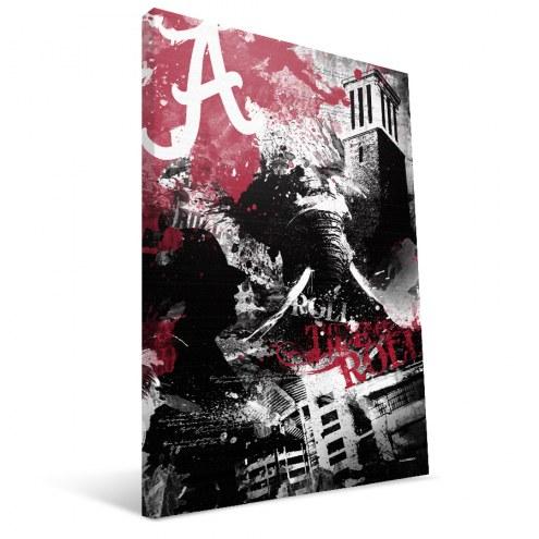 "Alabama Crimson Tide 16"" x 24"" Spirit Canvas Print"