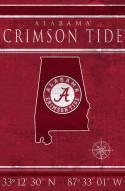 "Alabama Crimson Tide 17"" x 26"" Coordinates Sign"