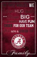 """Alabama Crimson Tide 17"""" x 26"""" In This House Sign"""