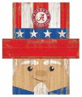 "Alabama Crimson Tide 19"" x 16"" Patriotic Head"