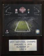 "Alabama Crimson Tide 12"" x 15"" 2011 BCS National Champions Plaque"
