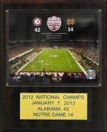 "Alabama Crimson Tide 12"" x 15"" 2012 BCS National Champions Plaque"