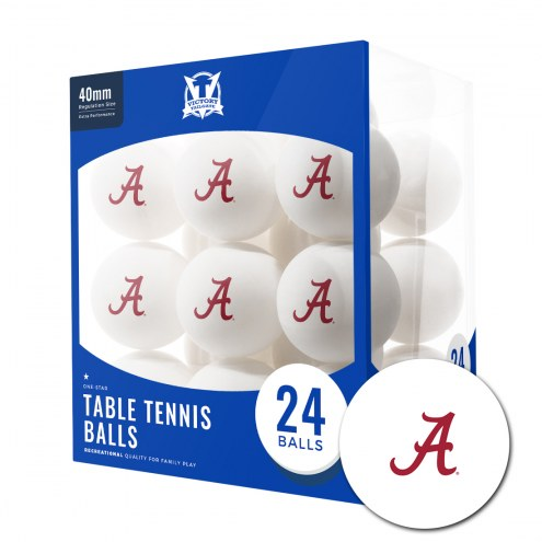 Alabama Crimson Tide 24 Count Ping Pong Balls