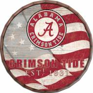 "Alabama Crimson Tide 24"" Flag Barrel Top"