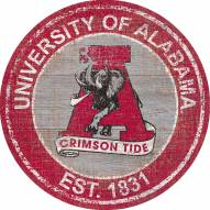 "Alabama Crimson Tide 24"" Heritage Logo Round Sign"