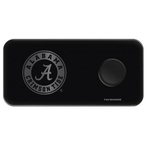 Alabama Crimson Tide 3 in 1 Glass Wireless Charge Pad