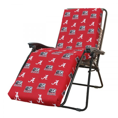 Alabama Crimson Tide 3 Piece Chaise Lounge Chair Cushion