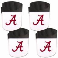 Alabama Crimson Tide 4 Pack Chip Clip Magnet with Bottle Opener