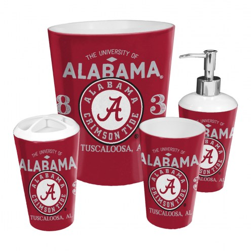 Alabama Crimson Tide 4-Piece Bath Set