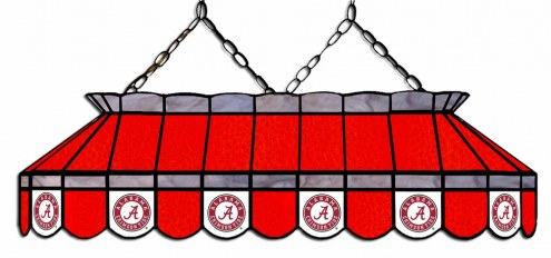 """Alabama Crimson Tide 40"""" Stained Glass Pool Table Light"""