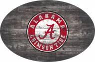 "Alabama Crimson Tide 46"" Distressed Wood Oval Sign"