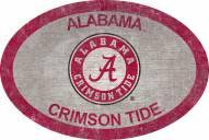 "Alabama Crimson Tide 46"" Team Color Oval Sign"