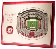 Alabama Crimson Tide 5-Layer StadiumViews 3D Wall Art