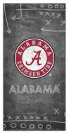 "Alabama Crimson Tide 6"" x 12"" Chalk Playbook Sign"