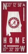 "Alabama Crimson Tide 6"" x 12"" Coordinates Sign"