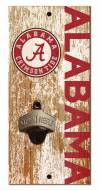 """Alabama Crimson Tide 6"""" x 12"""" Distressed Bottle Opener"""